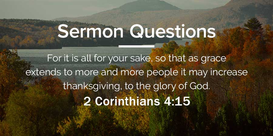 Sermon Questions - Psalm 95